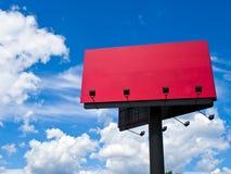 Rood aanplakbord Royalty-vrije Stock Foto's