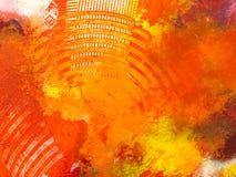 Rood abstract behang, textuur, achtergrond van close-upfragment Stock Fotografie