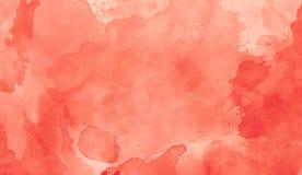 Rood abstract de textuurart. van de indrukwaterverf Artistieke heldere bacground royalty-vrije illustratie