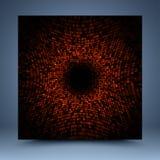 Rood abstract malplaatje Stock Foto