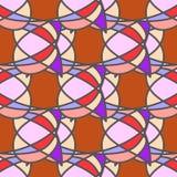 Rood abstract naadloos patroon Stock Foto