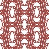 Rood abstract naadloos patroon met ornamenten Royalty-vrije Stock Foto's
