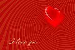 Rood achtergrond-02 van de Dag van de valentijnskaart Royalty-vrije Stock Foto's