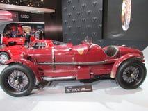 Rood Alfa Romeo 2015 Internationale toont Auto van New York Stock Foto
