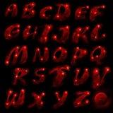 Rood alfabet, reeks vector illustratie