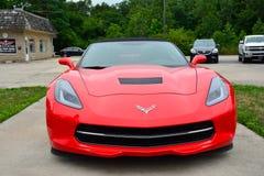 Rood Amerikaans sportscar Chevrolet-Korvet Royalty-vrije Stock Afbeelding