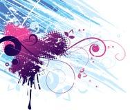 Rood & Blauw Abstract Ontwerp Vector Illustratie