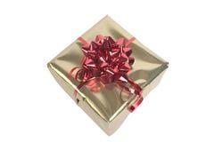 Rood & Gouden pakket stock foto