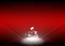 Rood & Wit Royalty-vrije Stock Afbeelding