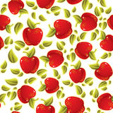Rood appelen naadloos patroon Royalty-vrije Stock Foto