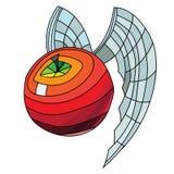Rood appelmozaïek vector illustratie