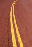 Rood asfalt Royalty-vrije Stock Afbeeldingen