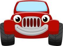 Rood autobeeldverhaal vector illustratie