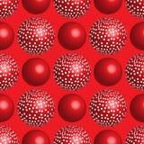 Rood ballen naadloos patroon Stock Afbeelding