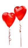 rood ballonhart dat op wit wordt geïsoleerd Royalty-vrije Stock Afbeelding