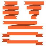 Rood banner vlak ontwerp Royalty-vrije Stock Foto