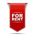 Rood bannerontwerp voor huur Royalty-vrije Stock Foto