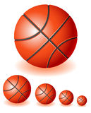 Rood Basketbal Stock Foto