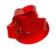 Rood beeldhouwwerk Stock Afbeeldingen