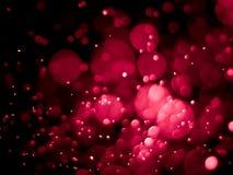 Rood bellen bokeh abstract achtergrond en behang Stock Foto's