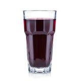Rood bessen vers en gezond sap in een lang glas royalty-vrije stock afbeelding