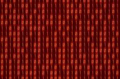 Rood binair getal Royalty-vrije Stock Fotografie