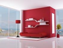 Rood binnenland van een strandvilla Stock Afbeelding