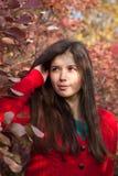 Rood bladerenportret Royalty-vrije Stock Afbeeldingen