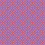 Rood, blauw en wit blokpatroon stock illustratie