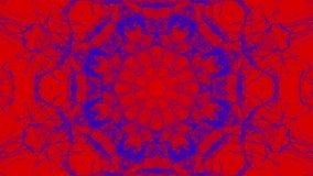 Rood-blauw geanimeerde patronen Abstracte caleidoscoop 3d geef terug vector illustratie