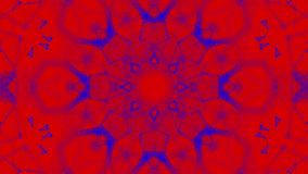 Rood-blauw geanimeerde patronen Abstracte caleidoscoop 3d geef terug royalty-vrije illustratie