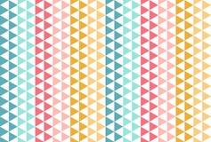 Rood blauw geel driehoekspatroon Grappige naadloze vectorachtergrond Stock Fotografie