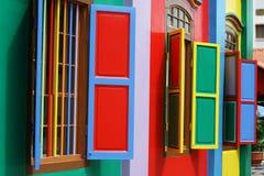 Rood, Blauw, Geel, Groen, Purper, Alle kleuren stock afbeelding