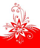 Rood bloemdecor Stock Foto