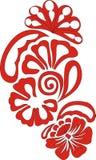 Rood bloemenontwerp Royalty-vrije Stock Foto