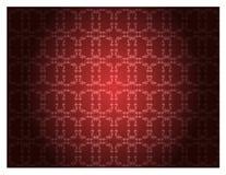 Rood bloemenpatroonbehang stock illustratie