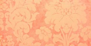 Rood bloempatroon op de muur Royalty-vrije Stock Foto's