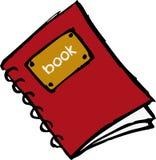 Rood boek met spiraal vector illustratie