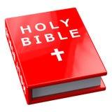 Rood boek met woorden Heilige Bijbel Stock Foto