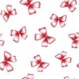 Rood boog naadloos patroon vector illustratie