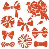 Rood-boog-reeks vector illustratie