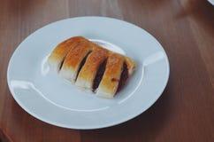 Rood boonbrood Stock Foto