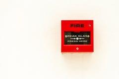Rood brandalarm Stock Afbeeldingen