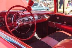 Rood 1957 Chevrolet Bel Air Royalty-vrije Stock Afbeelding