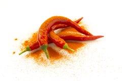 Rood Chili Pepper Royalty-vrije Stock Afbeeldingen