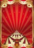Rood circus barok kader Stock Afbeelding