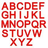 Rood 3d brievenalfabet, het van letters voorzien Royalty-vrije Stock Afbeelding
