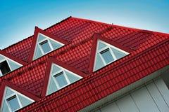 Rood dak Stock Foto
