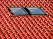 Rood dak II. Stock Afbeelding