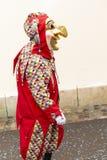 Rood de clownkostuum van Bazel Carnaval 2019 royalty-vrije stock afbeelding